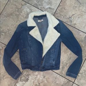 Jean Jacket with Faux fur